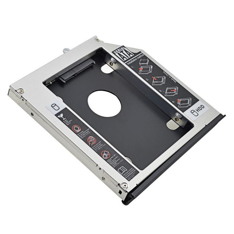 2nd HDD and / or 2.5inch SSD Hard Drive Caddy for CD/DVD-ROM Bay