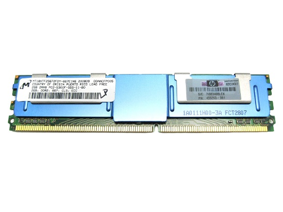 HP 455442-001 2.0GB PC2-5300 Low Power (LP) DDR2 SDRAM FB Ram