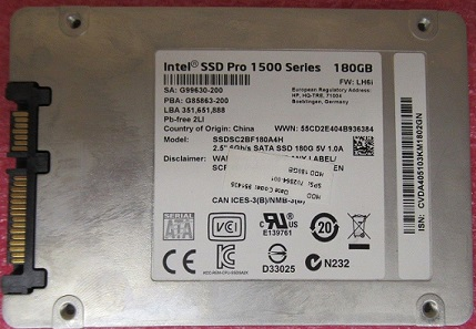 735236-001 HP SSD PRO 1500 180GB SATA III HDD 7MM