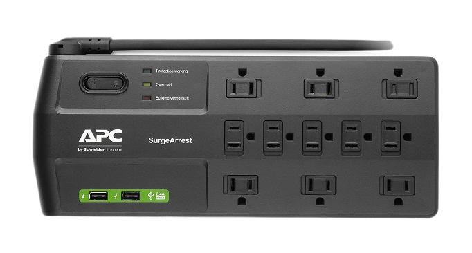 DELL APC 11-Outlet Surge Protector Power Strip with USB