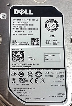 DELL 0DGNTV 1TB 7200RPM NEAR LINE SAS 12GBPS 128MB BUFFER 512N