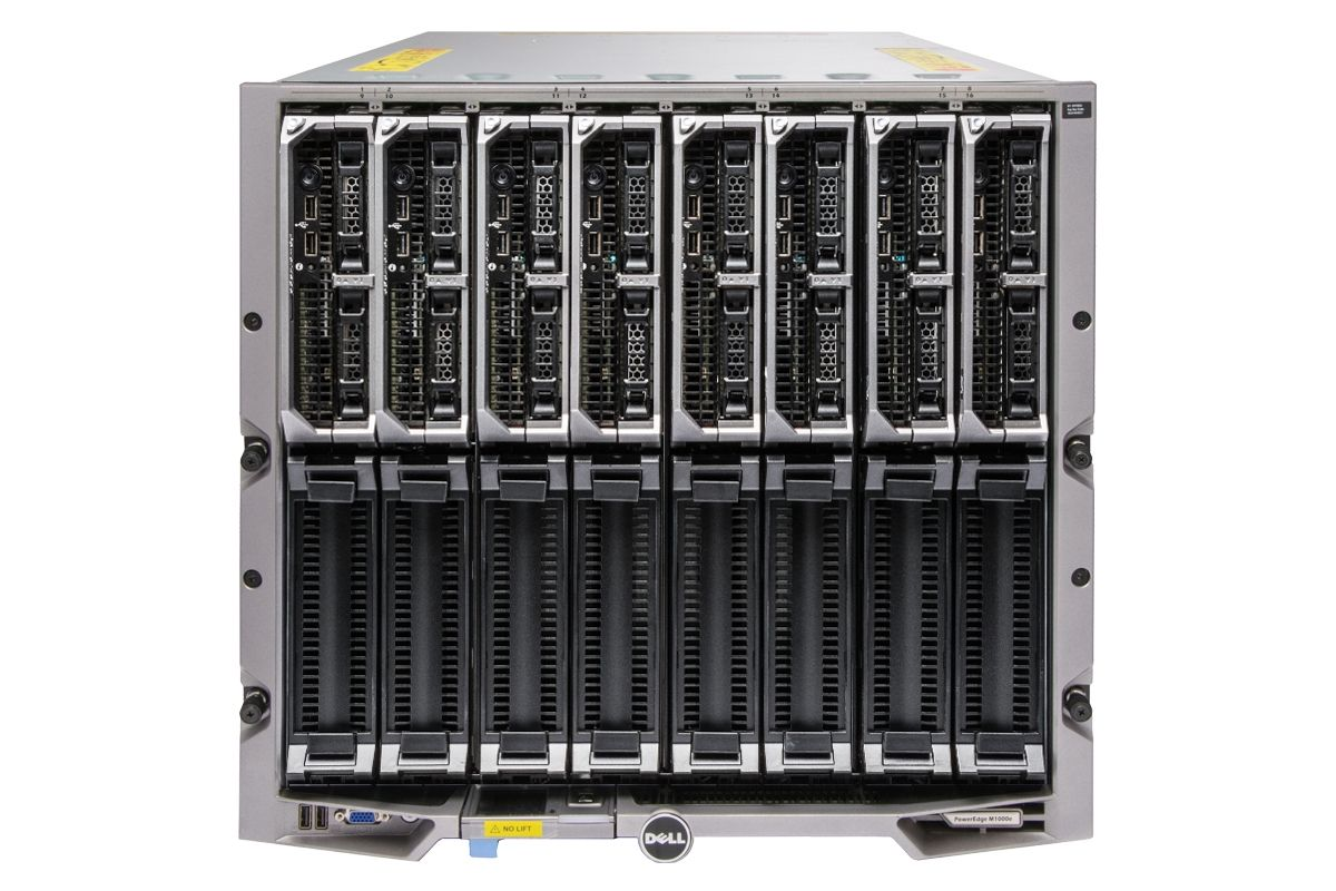 Dell PowerEdge M1000e Blade Enclosure with 8 x M620 Blades