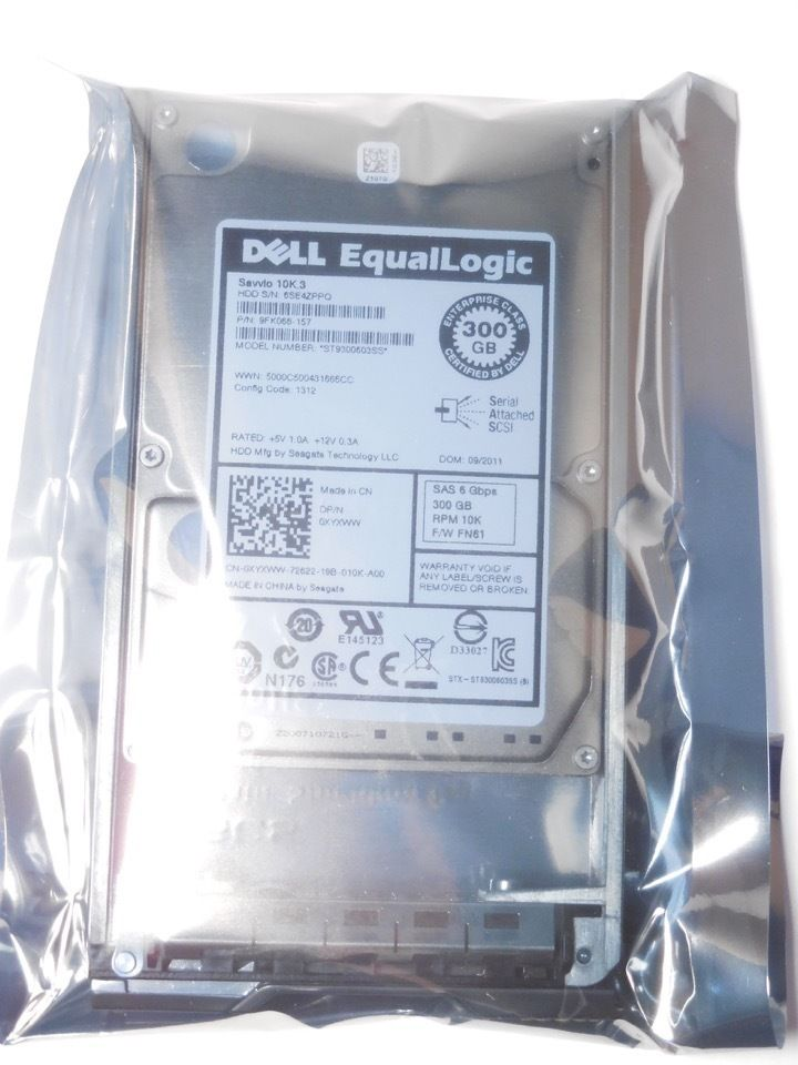 XYXWW Dell EQL 300GB 10K 2.5 SAS PS4100