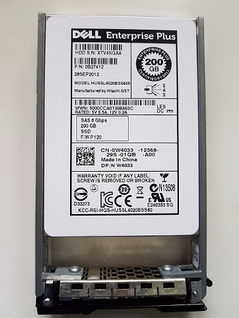 Dell 0B27412 Compellent SC220 200Gb 6Gbps 2.5 Solid State Drive