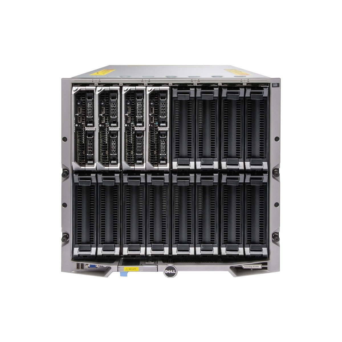 Dell PowerEdge M1000e Blade Enclosure with 4 x M620 Blades