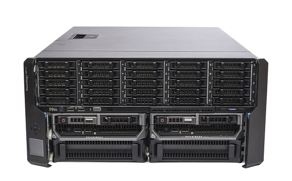 Dell PowerEdge VRTX Rackmount, 1x PERC8, 2 x M620P Blades
