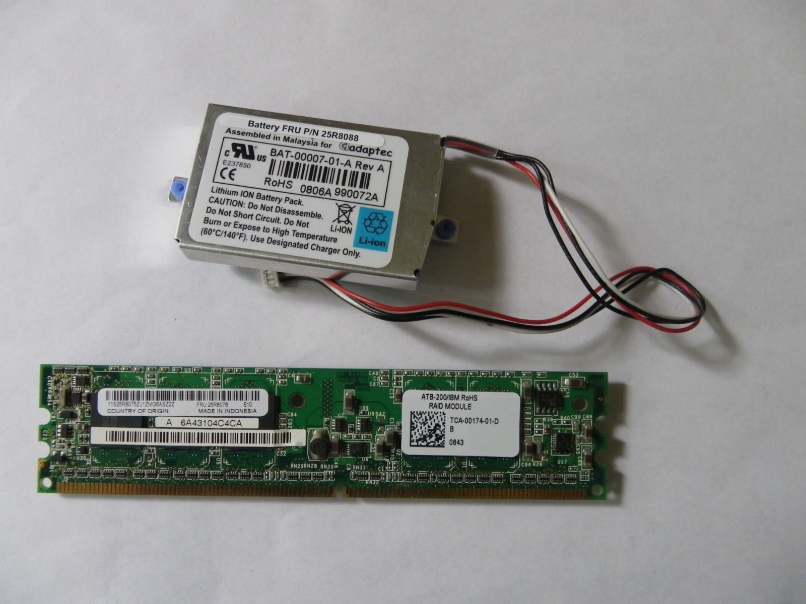 IBM 25R8076 ServerRAID 8k SAS Controller With Battery 25r8088
