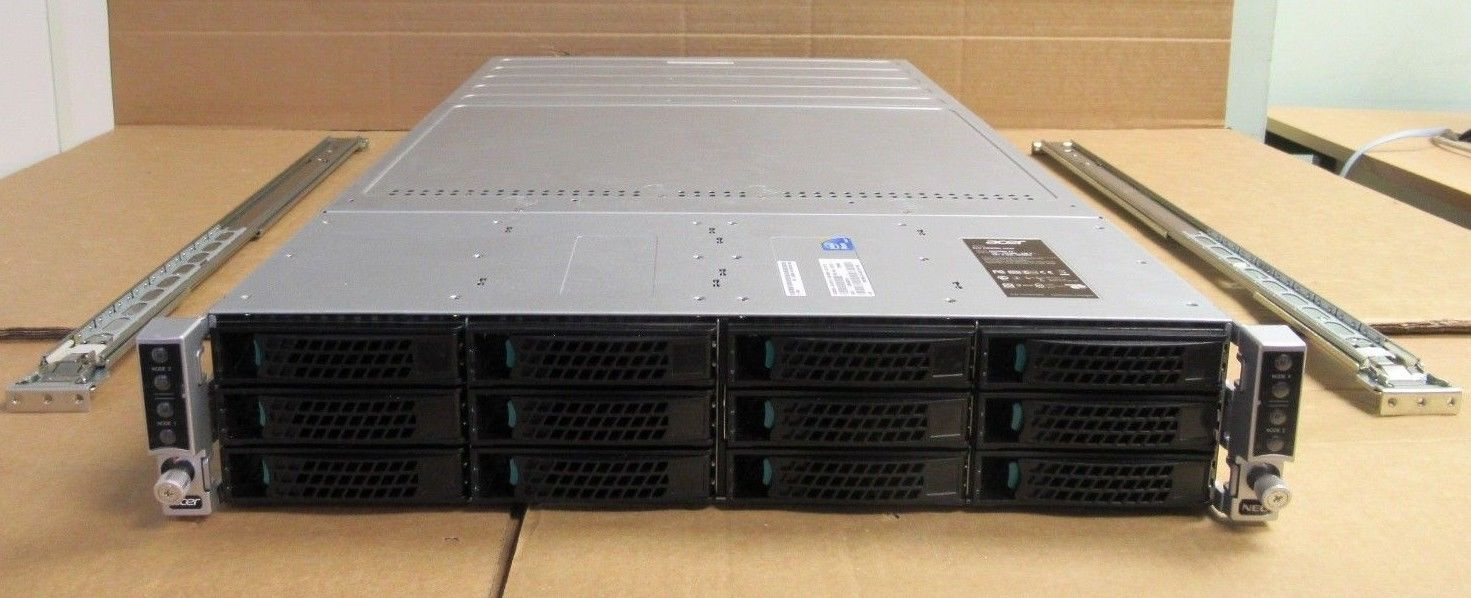 Intel H2312JFKR 4 Node Servers CTO E5-26xx V1 V2 No CPU/MEM 2U