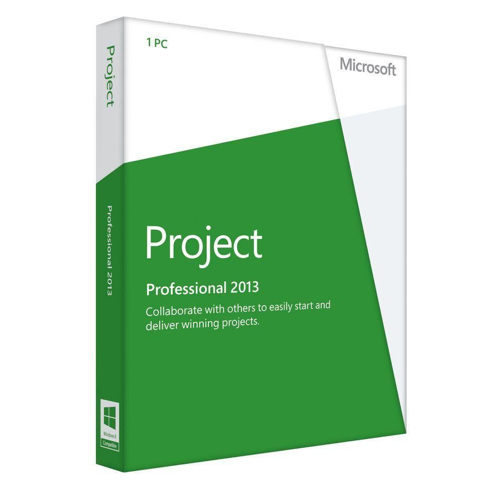 MICROSOFT PROJECT PROFESSIONAL 2013-32-BIT/X64 ENGLISH DVD