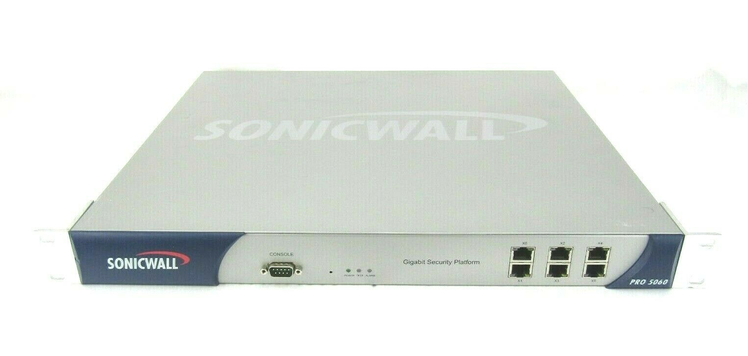 SonicWALL Pro 5060 1rk0b-02d Firewall Gigabit Security Platform