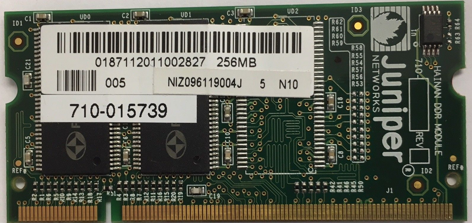 Juniper Networks 256MG DIMM Memory Upgrade For SSG5 Or SSG20