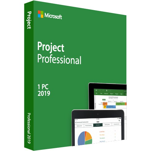 H30-05741 MS Project Professional 2019 - 32/64-Bit DVD
