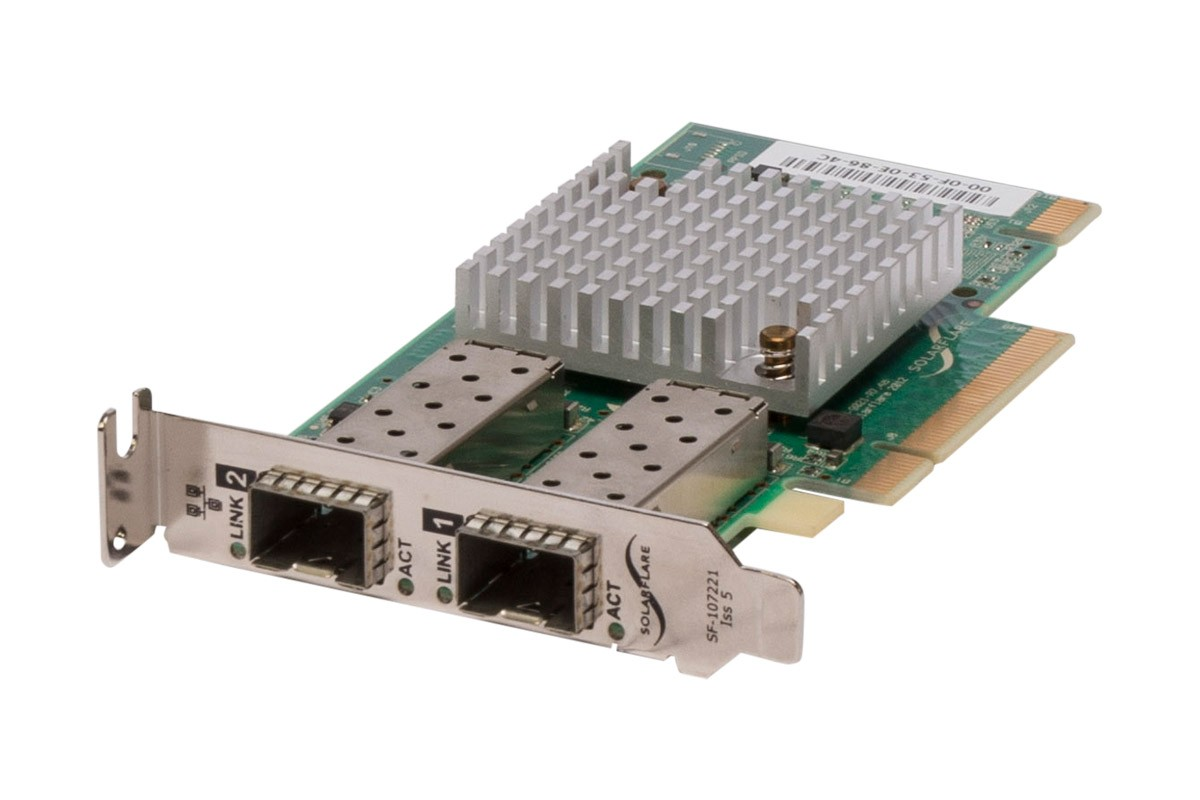 Solarflare SF329 10Gb/s Dual Port SFP+ Low Profile Network Card